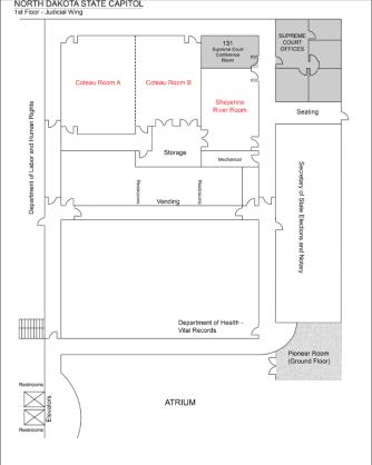 1st floor judicial wing